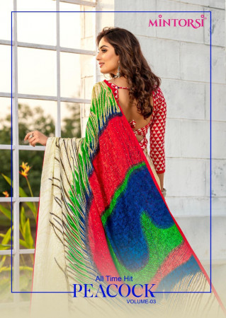 MINTORSI PEACOCK VOL-3 200201 TO 200208 Silk Jacquerd with Lace Piping And stone diamond work SAREE  SET AND LOOSE  WHOLESALE CATALOG