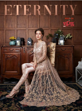 ETERNITY BY VIPUL FASHION 4530 TO 4537 SERIES BEAUTIFUL SUITS AT WHOLESALE RATE