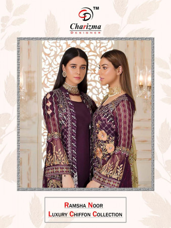 CHARIZMA DESIGNER RAMSHA NOOR LUX..COLLECTION 16001 TO 16006 SET TO SET WHOLESALE CATALOG