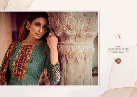 KAARA RANGREZ 1001 TO 1008 Pure Pasmina Print With Heavy Fancy Aari Embroidery Work SALWAR SUIT  SET TO SET  WHOLESALE CATALOG