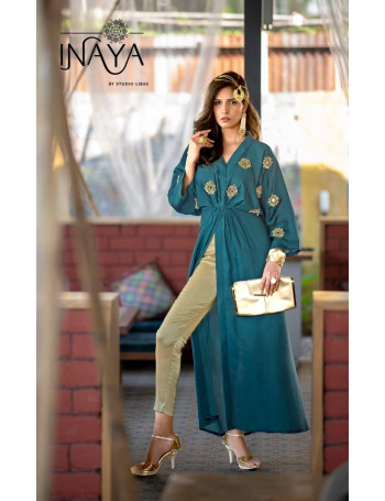 STUDIO LIBAS INAYA 01 TO 03 Pure modal  long Solero style gown embellished with classy heavy mirror handwork paired with straight pencil pants  SET TO SET   WHOLESALE  CATALOG