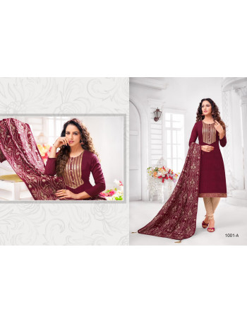 R.R.FASHION DIYA VOL-1 1001A TO 1001F Romona silk with elegant sequence embroidery SALWAR SUIT SET TO SET  WHOLESALE CATALOG