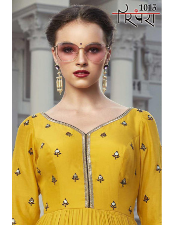 PARAMPARA PARAMPARA VOL-4 1015 TO 1020 FOUX GEORGETTE AB COTTON DESIGNER GOWN  SET AND LOOSE  WHOLESALE CATALOG