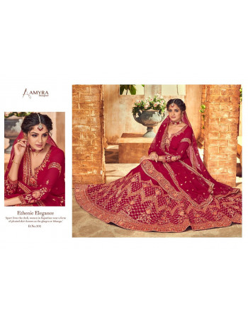 AMYRA DULHANIYA 101 TO 104 Real Georget with heavy exclusive embroidery with fancy daimond &Tikli work LEHENGA  SET TO SET  WHOLESALE CATALOG