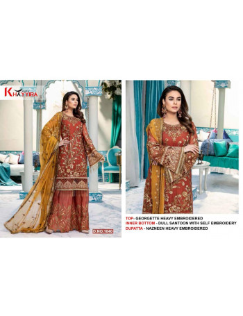 KHAYYIRA EMEEN- ADEEL NX 1037TO1039   heavy visvos thread embroidered pakistani style semi stitched in georgette fabric salwar suit exclusive collection.  SET AND LOOSE  WHOLESALE CATALOG