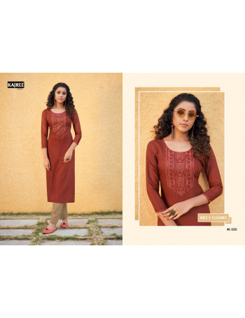 KALAROOP(KAJREE) PILI 12220 TO 12229 Fancy Lining With Work KURTI SET TO SET  WHOLESALE CATALOG