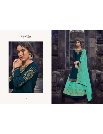 AMYRA PANGHAT VOL-6 130 TO 135 Georget satin  With Heavy &  exclusive embroidery & Daimond work  LEHENGA SET TO SET WHOLESALE CATALOG