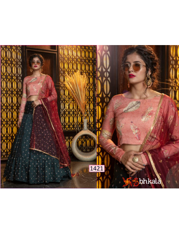 KHUSHBOO GIRLY VOL-8 1421 TO 1427 COTTON JAQUARD WEAVEING SEQUENCE WORK LEHENGA  CHOLI SET AND LOOSE  WHOLESALE CATALOG