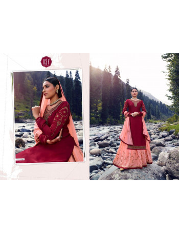 RSF FIZA 17701 TO 17706  Pure Satin Gorgette silk long suit With heavy work & handwork SALWAR SUIT SET TO SET  WHOLESALE CATALOG