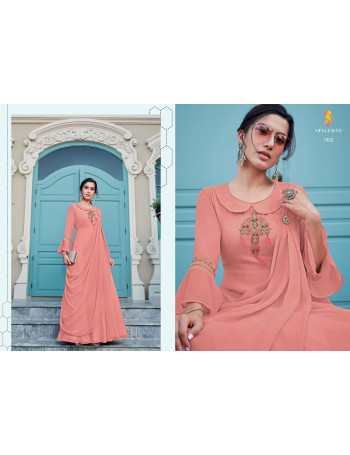 STYLE MAX ALMIRAH VOL-02 1901 TO 1908  Heavy fox Jorjat With Heavy   Embroidery SINGLE PEACE  SET AND LOOSE AND SINGLE  WHOLESALE CATALOG