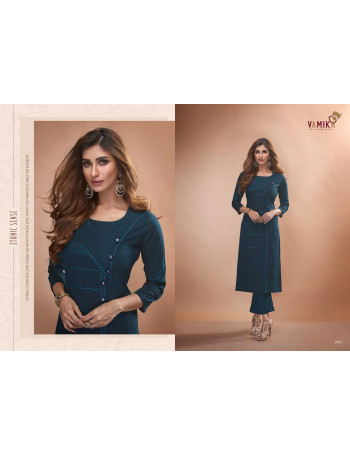 ARIHANT NX(VAMIKA) CLAIRE VOL-2 2001 TO 2011 PURE VISCOS TWO TONE SILK KURTI SET TO SET  WHOLESALE CATALOG