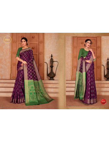 NP ANURADHA 2002A TO 2002G Silk weaving saree with  Rich Pallu And Jequred Blouse SET AND LOOSE WHOLESALE CATALOG