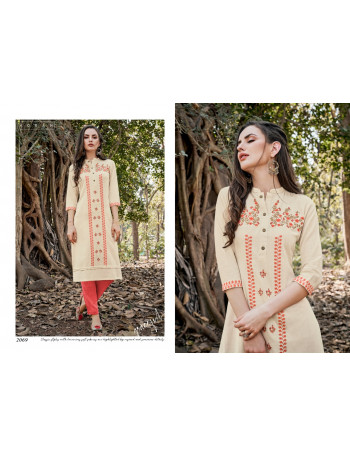 NEHA NAJUK WITH PANT  2068 TO 2071  Cottan With Embroidery Work KURTI AND PANTS  SET TO SET  WHOLESALE CATALOG
