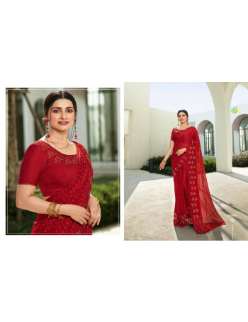 VINAY FASHION GLITTER 22561 TO 22569  SILK GEORGETTE SAREE WITH SWAROVSKI  WORKSET TO SET WHOLESALE CATALOG