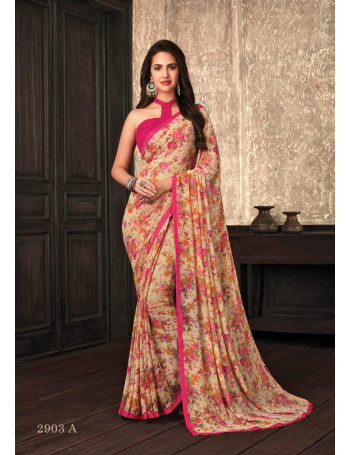 RUCHI JASMINE GEORGETTE HIT DESIGNS  GEORGETTE  PRINTED SAREE  SET AND LOOSE  WHOLESALE  CATALOG