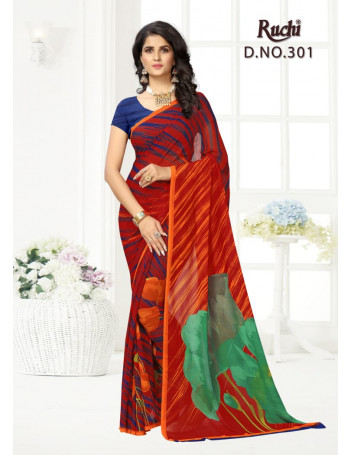 RUCHI RAGA GORGEETT POSTER NO-3 301 TO 309  GEORGETTE  SAREE  SET TO SET  WHOLESALE  CATALOG