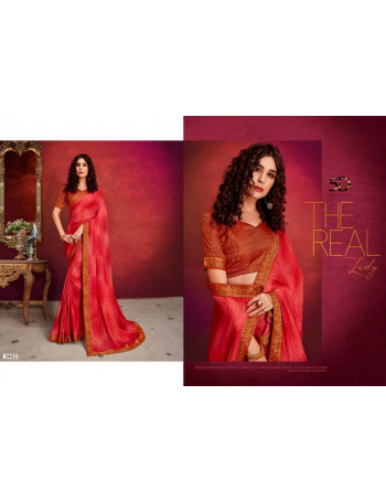5D ALISHKA 3401TO 3408 BRIGHT GEORGATE WITH HAND PRINTED  SAREE SET TO SET  WHOLESALE CATALOG
