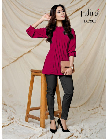 INDIRA FOREVER VOL-2 3801 TO 3808Soft Viscose Georgette Wrinkle Free TOP  Cotton Stretchable PANTS  STE TO SET WHOLESALE CATALOG