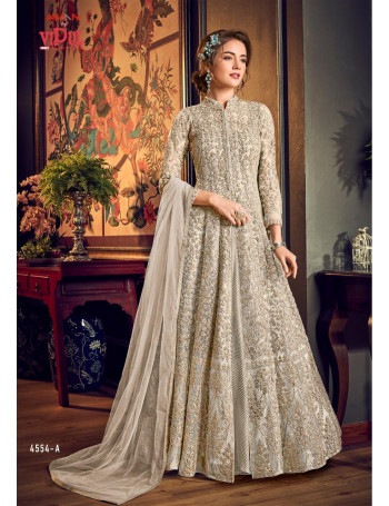 VIPUL  JULIA HIT DESIGNS SATIN EMBERODERY THREAD WORD & SEQUENCE WORK  GOWN   SET AND LOOSE WHOLESALE CATALOG