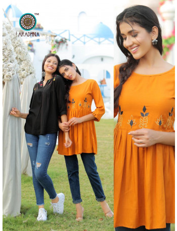 ARADHNA CLASSIC VOL-5 5001 TO 5009(1001 TO 1009) Heavy Rayon With Manual Work TOP SET TO SET  WHOLESALE CATALOG