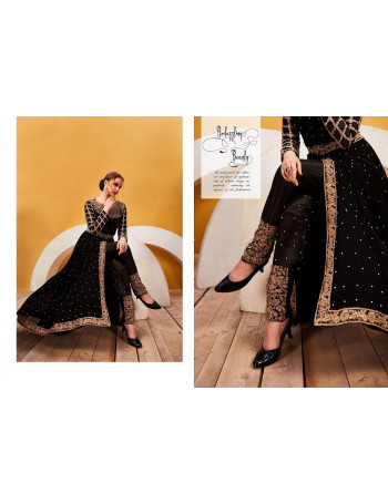 SENHORA ZAREENA HIT DESIGNS  Faux Georgette with embroidery work, + stone work SALWAR SUIT  SET AND LOOSE  WHOLESALE CATALOG