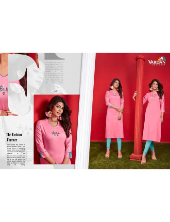 VARDAN JAAM 51 TO 54  Heavy Jam Cotton KURTI SET AND LOOSE  WHOLESALE CATALOG