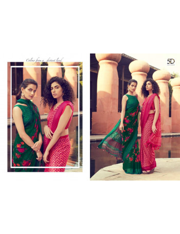 5D JODHA VOL-4 11341 TO 11350 PURE GEORGATE WITH JEQUARD BORDER SAREE  SET TO SET  WHOLESALE CATALOG