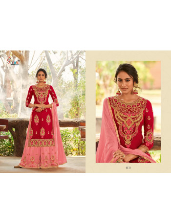 SHREE FABS SHAHNAI BRIDAL COLLECTION VOL-26 6130 TO 6134  Georgette Heavy embrodery work & heavy handwork PLAZO SUIT  SET TO SET  WHOLESALE CATALOG