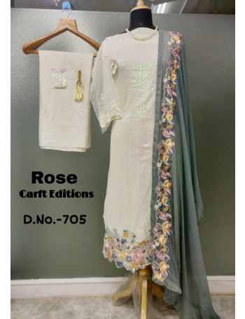 SHANAYA ROSE CARFT EDITION 705 GORGEETE KURTI SET AND LOOSE  WHOLESALE CATALOG