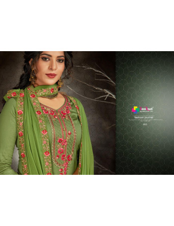 SANSKRUTI KISHAN VOL-5 813 TO 818  PURE JAMSILK WITH HEAVY EMRODARI AND HANDWORK  SALWAR SUIT SET TO SET  WHOLESALE CATALOG