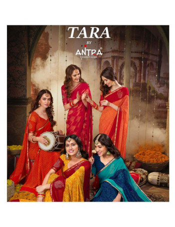 ANTRA LIFESTYLE TARA 65981 TO 65990 GEORGETTE SAREE SET TO SET WHOLESALE CATALOG