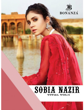 BONANZA SOBIA NAZIR VITAL VOL-1 5001 TO 5003  Heavy Blooming Fox  Georget With  Heavy  Embroidery withSALWAR SUIT  SET TO SET  WHOLESALE CATALOG