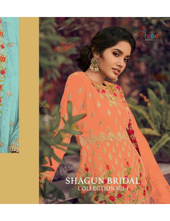 SHREE FAB SHAGUN BRIDAL COLLECTION VOL-2 6124 TO 6129  heavy jorget with embrodery & dimond & bagdiwork DRESS  SET TO SET WHOLESALE CATALOG