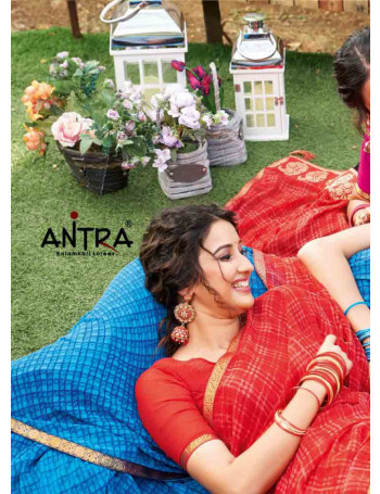 ANTRA LIFESTYLE NAINA 67561 TO 67570 MAZOR GEORGETTE  FANCY GEORGETTE PRINTED SAREE WITH PRINT LACE BORDER SET TO SET WHOLESALE CATALOG