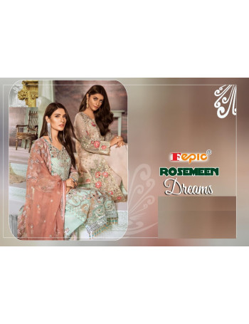 FEPIC ROSEMEEN DREAMS 75001 TO 75006 DESIGNER PAKISTANI SUITS BEAUTIFUL FANCY STYLISH COLOURFUL PAKISTANI SUIT AT WHOLESALE RATE