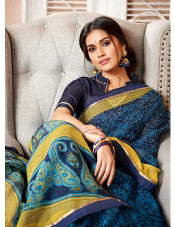 LIFESTYLE CHARUMITRA VOL-34 68661 TO 68672 FANCY COTTON NETT PRINTED SAREE WITH LACE SET TO SET  WHOLESALE CATALOG