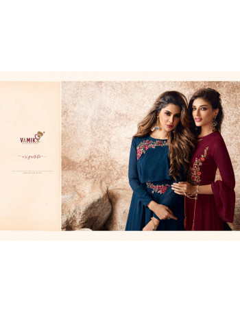 ARIHANT NX(VAMIKA) SUI DHAAGA VOL-3 18017 TO 18024 SEMI GEORGETTE WITH HEAVY EMBROIDERY WITH DIAMOND AND HANDWORK  KURTI  SET TO SET  WHOLESALE CATALOG