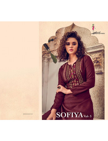 EBA SOFIYA VOL-3 18013 TO 18018 Stretch Cotten With Embroidery Work KURTI SET TO SET  WHOLESALE CATALOG