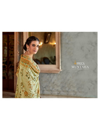 IBIZA MUNTAHA 737 TO 744  PURE PASMINA WOOL WITH DIGITAL PRINT AND FANCY EMBROIDERY SALWAR SUIT  SET TO SET  WHOLESALE CATALOG