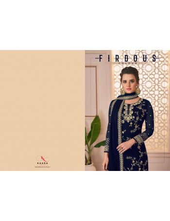 KAARA FIRDOUS COLOUR 1001 TO 1004 Fox Blomming Georgette with Heavy Embroidery Work SALWAR SUIT  SET TO SET  WHOLESALE CATALOG