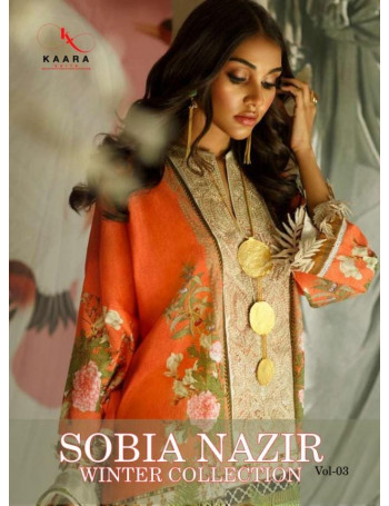 KAARA SOBIA NAZIR WINTER COLLECTION VOL-3 1001 TO 1004 PASMINA PRINT SALWAR SUIT  SET TO SET  WHOLESALE CATALOG