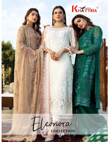 KHAYYIRA ELEONORA COLLECTION 1063 TO 1067 Heavy Embroidered Georgette SALWAR SUIT  SET AND LOOSE WHOLESALE CATALOG