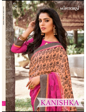 MINTORSI KANISHKA 11401 TO 11411 Georgette With Exclusive Double lace border SAREE SET AND LOOSE  WHOLESALE CATALOG
