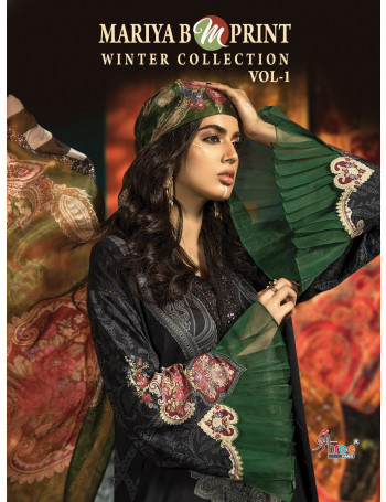 SHREE FABS MARIA.B.M PRINT WINTER COLLECTION VOL-1 1432 TO 1439 PASMINA PRINT WITH EMBRODERY SALWAR SUIT  SET TO SET WHOLESALE CATALOG