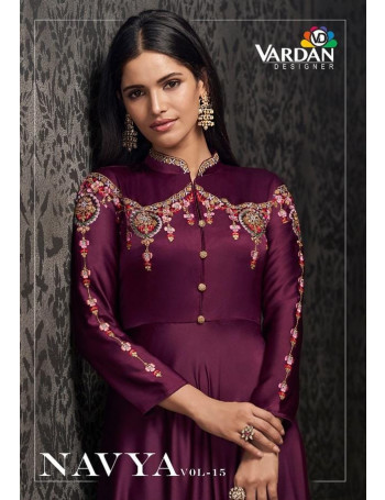 VARDAN NAVYA VOL-15 1501 TO 1503  Glowing Joregert With Heavy Embroidery KURTI SET AND LOOSE  WHOLESALE CATALOG