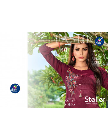VITARA STELLER VOL-2 201 TO 207 DISCO SLUB KURTI  SET TO SET WHOLESALE CATALOG